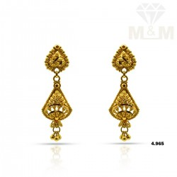 Awesome Gold Fancy Earring