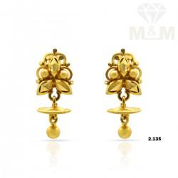 Folk Gold Fancy Earring