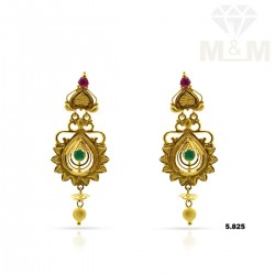 Ancient Gold Fancy Earring