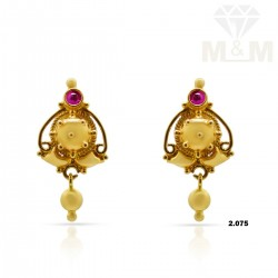Flamboyant Gold Fancy Earring
