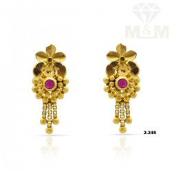 Hallowed Gold Fancy Earring
