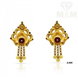 Coolest Gold Fancy Earring