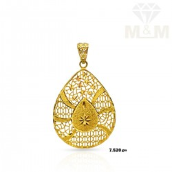 Lush Gold Casting Pendant