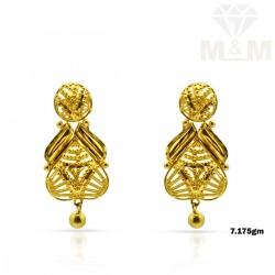 Virtuosic Gold Fancy Earring