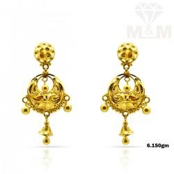 Incisive Gold Fancy Earring