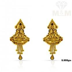 Gorgeous Gold Fancy Earring