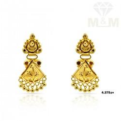 Bright Gold Fancy Earring