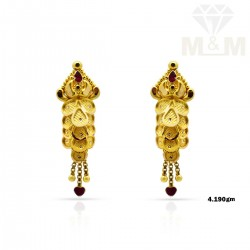 Peerless Gold Fancy Earring