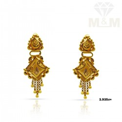Nonpareil Gold Fancy Earring