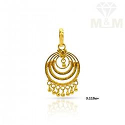 Vibrant Gold Fancy Pendant