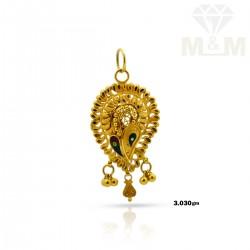 Sparkling Gold Fancy Pendant