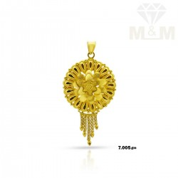 Vivacious Gold Fancy Pendant