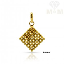 Polite Gold Fancy Pendant
