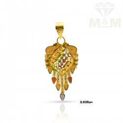 Prosperous Gold Fancy Pendant