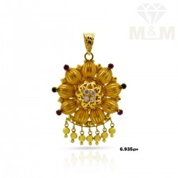 Mannerly  Gold Fancy Pendant
