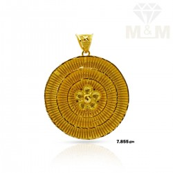Sculpture Gold Fancy Pendant