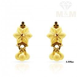 Literary Gold Fancy Earring