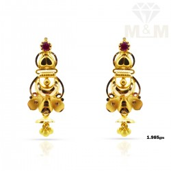 Perfection Gold Fancy Earring