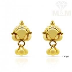 Luxuriant Gold Fancy Earring