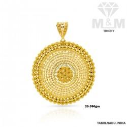 Bright Gold Fancy Pendant