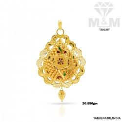 Incisive Gold Fancy Pendant
