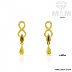 Coolest Gold Casting Earring