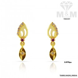 Bright Gold Casting Earring