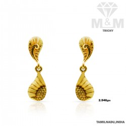 Dramatic Gold Casting Earring