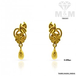 Sumptuous Gold Casting Earring