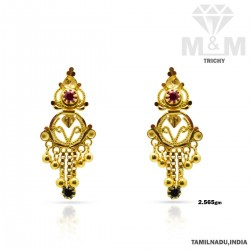 Cute Gold Fancy Earring