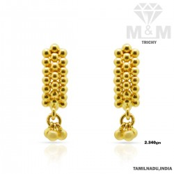 Delightful Gold Fancy Earring