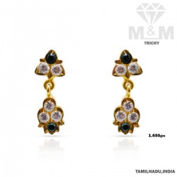 Graceful Gold Fancy Earring