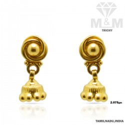 Pretty Gold Fancy Earring