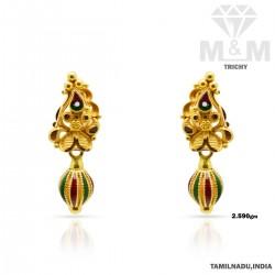 Resplendent Gold Fancy Earring