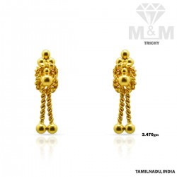 Wonderful Gold Fancy Earring