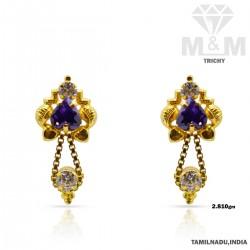 posh Gold Fancy Stone Earring