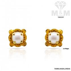 Tremendous Gold Fancy Stone Earring