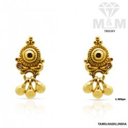 Prosperous Gold Fancy Earring