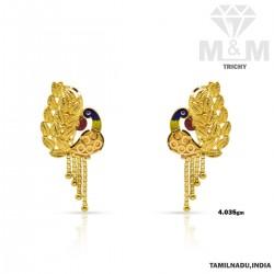Beauteous Gold Fancy Earring