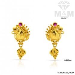Charming Gold Fancy Earring