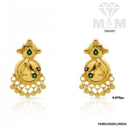 Exciting Gold Fancy Earring