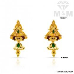 Exotic Gold Fancy Earring