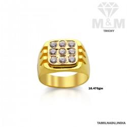 Pretty Gold Fancy Stone Ring