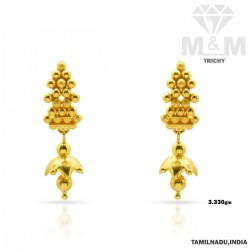 Exquisite Gold Fancy Earring