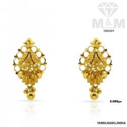 Delightful Gold Fancy Earring