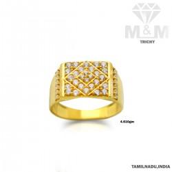 Scintillating Gold Fancy Stone Ring