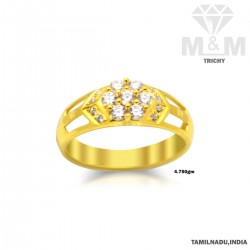 Incisive Gold Fancy Stone Ring
