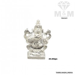 Incisive Silver Ganesha Idol