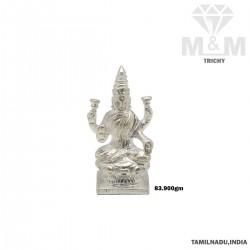 Formidable Silver Lakshmi Idol