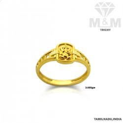 Optimum Gold Lord Ganesha Ring